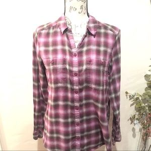 Eddie Bauer Plaid Long Sleeve Shirt